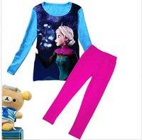 Wholesale Frozen Elsa Kids Boys Girls Sleepwear Nightwear Pajama Pyjama Set For Age Y DH04