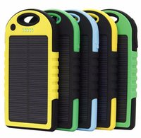 Wholesale 5000mAh Solar Charger and Battery Solar Panel portable power bank for Cell phone Laptop Camera MP4