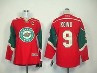 Wholesale Youth New Mikko Koivu Red Home Green Stitched NHL Kids Jersey