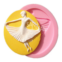 ballet cake decorations - M0928 Lovely Ballet Dancing Girl Fondant Cake Mold Chocolate Mold for the Kitchen Baking Sugarcraft Decorations Tools