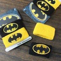 Wholesale New Cotton Sports Band Wristband Batman two Color Wrist Support Protector Sweatband Basketball Tennis Badminton