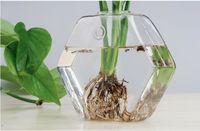 glass fishbowl - hexagon glass wall planter terrarium glass wall fishbowl desktop planter vase for wall decor home decor garden decor house ornament