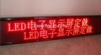 Wholesale Red DIP LED scrolling sign message display panel board desk car advertising programmable rechargable support any languages