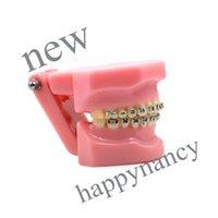 Cheap GOOD ON SALE 5pcs dental model Dental Orthodontic Standard Teeth Tooth Model METAL Brackets & LIGATURE TIES study teach model