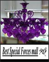 Wholesale Bella Vetro Lights quot Aqua Blown Glass Chianti Chandelier Blue Purple Red Black