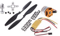Wholesale A2212 KV Brushless Outrunner Motor A ESC Prop B Quad Rotor Set for RC Aircraft Multicopter