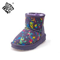boots baby fur - Purple Warm Boots for Kids Newest Winter Fleece Shoes Girls Children Baby Brand New Sneakers Super Warm Comfortable Boys Leather Cotton