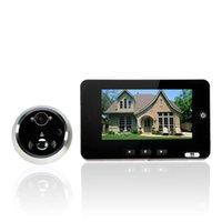 Wholesale 4 quot TFT LCD Digital Door Viewer Color Screen Doorbell Door Peephole Viewer Camera Door Eye Video recorder Night vision