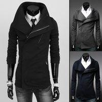 mens trench coat - 2015 New Arrival Spring Autumn fashion slim fit mens trench coats Brand oblique zipper woolen jacket mens mid long coat