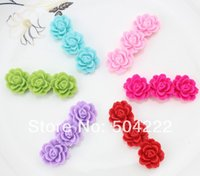 aqua blossom - 100pcs mixed mm Blossom Three Peony FLower flatback Cabochon Cell phone decor hair accessory embellishment flower bouquet XL