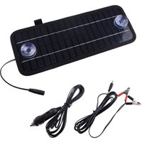 automobile solar panels - 2015 High quality W V Portable Car Boat Power Solar Panel Battery Charger Panel Black Solar Panels