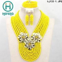 african jewelry - hot selling high quality elegant African fashion bead jewelry sets a of different kinds of styles hefeng HJ133
