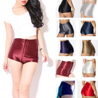 high waisted shorts - 2015 retail New Ladies Sexy Fashion Sex Girl Disco High Waisted Shiny Stretch Shorts Apparel Hot Pants