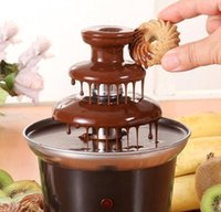 Wholesale 40 OFF Fantastic Chocolate Fountain Fondue Event Wedding Birthday Festive Party Supplies Cooking Tools Waterfall Machine A3