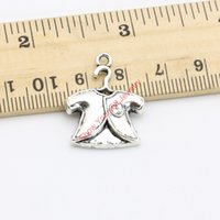 baby charm bracelet tibetan - 20pcs Tibetan Silver Plated Baby Clothes Charms Pendants for Bracelet Necklace Jewelry Making DIY Handmade Craft x20mm Jewelry making DIY