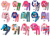 100% cotton pajamas - New Pyjamas boy girl kids long sleeve pajama set baby cartoon pajamas sleepwear kids clothes set kids autimn winter pajamas