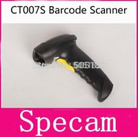 Wholesale Wireless Bluetooth Barcode Scanner CT007S bar Code Reader G m Wireless Wired Laser Scanner DHL free shiping