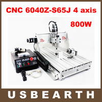 Wholesale 4 Axis CNC Router Z S65J milling machine with W VFD spindle rotary axis for d cnc