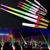 Wholesale Telescopic LED Glow Stick Flash Light Toy Fluorescent Sword Concert Christmas Carnival Toys LED Light Sticks Luminous Sticks Cheer Props DHL