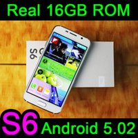 wifi gps - 1 S6 inch SM G9200 Real GB GB Cell Phone MTK6582 Quad Core Android camera MP WiFi G WCDMA GPS show G free DHL