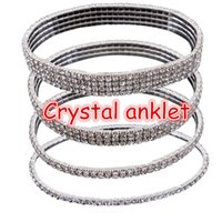 Wholesale Shiny full crystal anklets shipping