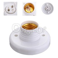 Wholesale New E27 Screw Base Round Light Bulb Lamp Socket Holder Adapter White