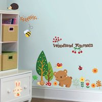 adhesive wall coverings - Removable PVC vinyl Wall Stickers Owl Tree Forest Animal Wall Decal DIY Wall Covering Sticker For Kids Room Decoration