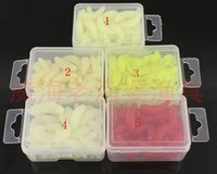 Soft Baits Worms Freshwater Free Shipping 5 colour 40PCS lot 2cm 0.45g fishing lure maggot Grub Soft Lure Baits smell Worms Fishing Lures with plastic box drop shipping