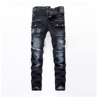 mens clothes designer - 2016 represent clothing Ripped mens jeans Cotton Brand Designer Denim Joggers For Men Distressed Jeans Pants With Holes Plus size