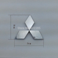 auto chrome plating - Mitsubishi Lancer logo car back standard plating silver emblem label auto stickers modified chrome badge top quality M3495 car sticker