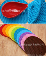 Wholesale colorful thick continental food grade silicone mat pot pad heat pad mat bowls mat coasters creative household supplies