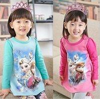 Wholesale Autumn Baby Girls Frozen Girl dress Romance dress print dress brand children s clothing for girls clothing children dress color Christmas