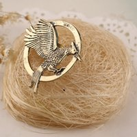american retro brooch - 2016Unisex Necklace European And American Punk Style Hunger Games Retro Bird Pendant Necklace Men And Women New Fashion Jewelry ZJ