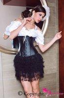 Cheap Wholesale-Dear-lover Hot Sale latex Waist Cincher Black waist training underbust corset Plus size XXL women shapewear underwear