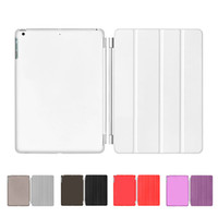 Wholesale S5Q Ultra Slim PU Leather Folding Bracket Holster Protector Cover For Apple IPad Air AAAEDU