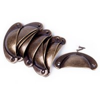 Wholesale New Kitchen Cupboard Door Cabinet Cup Drawer Furniture Antique Shell Pull Handle