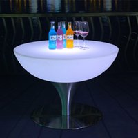 Wholesale hot sale RGB colors luminous glowing bar and lounge furniture led light coffee bar table piece