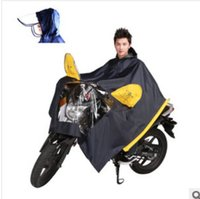 airbag fabric - Automatic drainage motorcycle airbag helmet visors electric cars raincoat poncho single person Rainwear