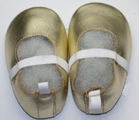 ballerina shoes kids - Gold candy color Genuine Leather Baby Moccasins Children Soft Sole Girls Ballet Shoes Ballerina flats Dance Shoes For Kids girls free dhl
