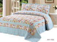 Wholesale AY Cotton Quilt coverlet piece Blue Printed