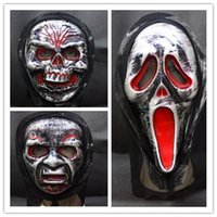 Wholesale Halloween Scary Party Mask Spirit Festival Horro Devil Funny Rubber Masks October Terror Masquerade Children Adult Cosplay H1635