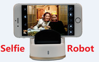 auto rotate pictures - New Selfie Robot Auto face tracking multi mode degree rotate take picture free portable selfie robot for Android iPhone DHL Free