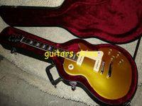 Wholesale NEW Free Hardcase Goldtop Standard Electric Guitar P90 Pickups OEM guitar