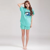 bamboo t-shirt - MOERAE Womens Designer T Shirts Eye Printing Summer Casual T Shirt Leisure Wear Bamboo Fiber Shirts Colors Plus Size S220