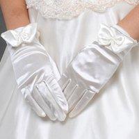 Cheap 2015 Sale Wedding Gloves Luvas De Noiva New Fingerless 24-20cm White Gloves Wedding Car Bone Flower Rhinestone Dresses Accessories W0321