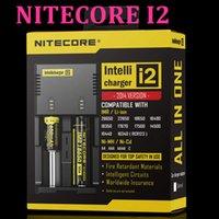 Wholesale NITECORE i2 Intellicharger Universal Charger for Battery E Cigarette Li ion Ni MH Ni Cd VTC4 charger for ego mods