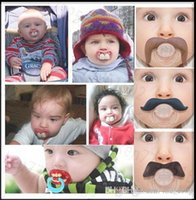 Wholesale baby pacifier funny pacifier Cute Teeth Mustache Baby Boy Girl Infant Pacifier Orthodontic Dummy Beard Nipples Pacifiers for whimsy DHL free