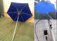 automatic solar shades - Solar Energy Product Sun Umbrella with Solar Panels Charger for iPhone etc Bar Umbrella Patio and Beach umbrella S02