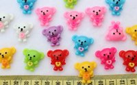 bear paint colors - 200pcs Resin kawaii hand paint Bear w heart wing Deco cabochons Flatbacks mixed colors mm