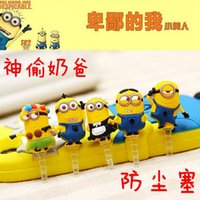 Wholesale Minions Despicable Me Cell Phone Anti Dust Gadgets MM Earphone Jack Dust Plug For Iphone For Samsung Galaxy For Sony